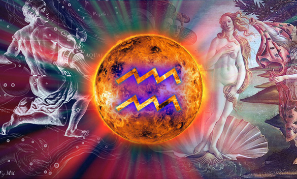 Venus has just entered Aquarius ..