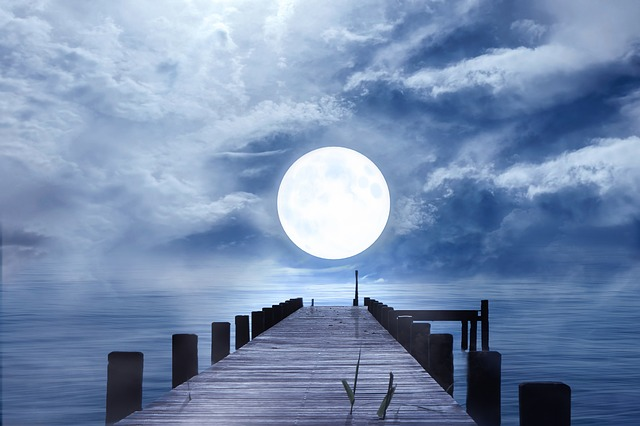 Full Moon over the sea Astrology photography