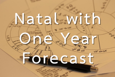Natal reading with one year forecast consultation button