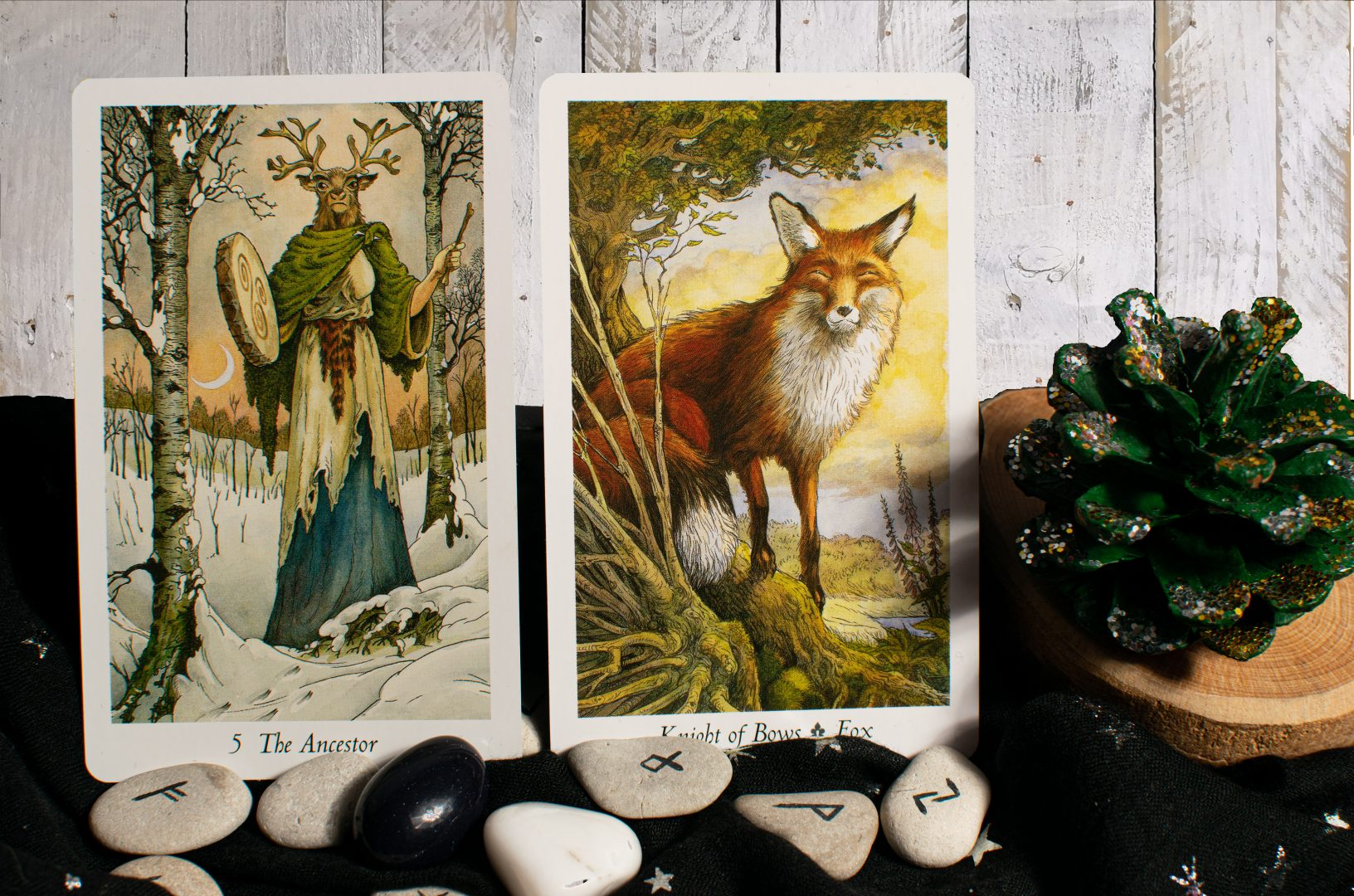 Ancestor and Fox Wildwood Tarot